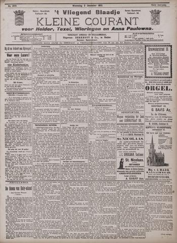 Vliegend blaadje : nieuws- en advertentiebode voor Den Helder 1902-12-03