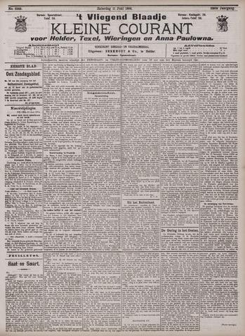 Vliegend blaadje : nieuws- en advertentiebode voor Den Helder 1904-06-11