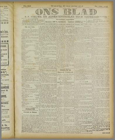 Ons Blad : katholiek nieuwsblad voor N-H 1919-09-10