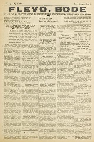 Flevo-bode: nieuwsblad voor Wieringen-Wieringermeer 1946-04-13
