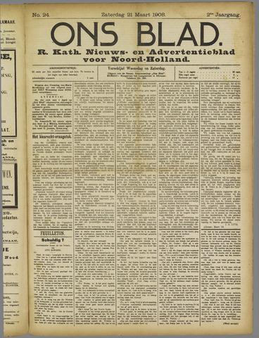 Ons Blad : katholiek nieuwsblad voor N-H 1908-03-21