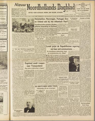 Nieuw Noordhollandsch Dagblad : voor Alkmaar en omgeving 1949-01-07
