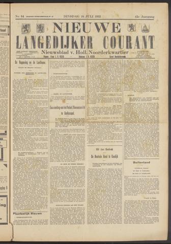 Nieuwe Langedijker Courant 1933-07-18