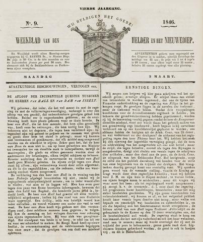 Weekblad van Den Helder en het Nieuwediep 1846-03-02