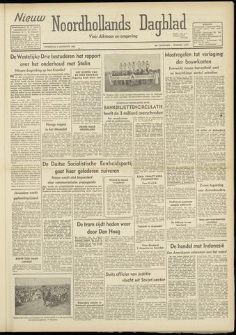 Nieuw Noordhollandsch Dagblad : voor Alkmaar en omgeving 1948-08-04