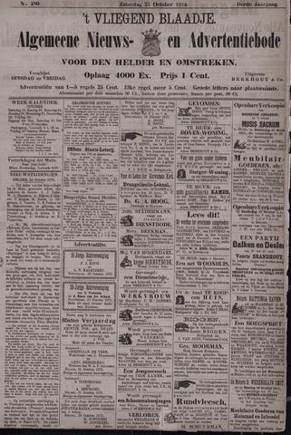 Vliegend blaadje : nieuws- en advertentiebode voor Den Helder 1875-10-23