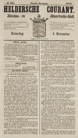 Heldersche Courant 1870-11-05