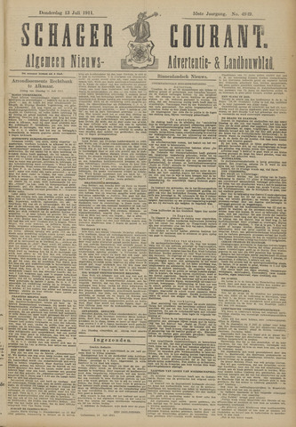 Schager Courant 1911-07-13