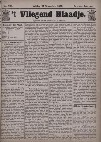 Vliegend blaadje : nieuws- en advertentiebode voor Den Helder 1879-11-21