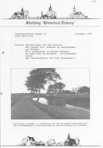 Informatieblad stichting Historisch Niedorp 1997-11-01