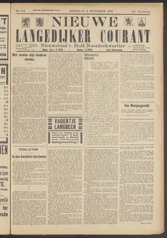 Nieuwe Langedijker Courant 1932-10-04
