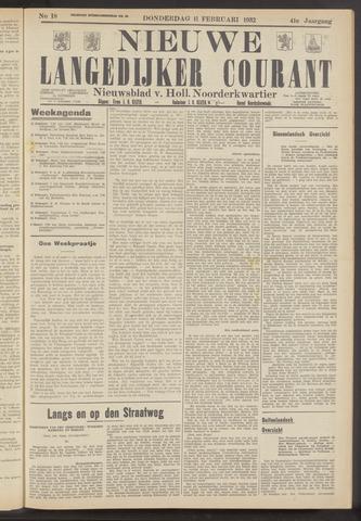 Nieuwe Langedijker Courant 1932-02-11