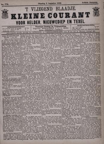 Vliegend blaadje : nieuws- en advertentiebode voor Den Helder 1880-08-03