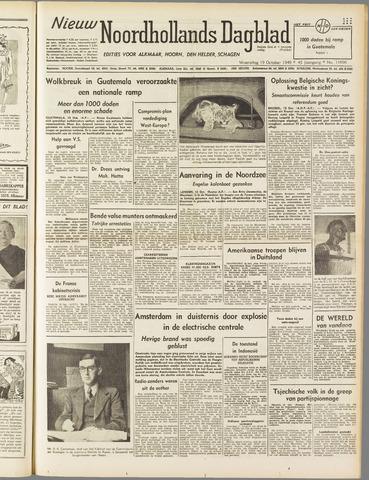 Nieuw Noordhollandsch Dagblad : voor Alkmaar en omgeving 1949-10-19