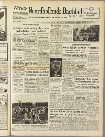 Nieuw Noordhollandsch Dagblad : voor Alkmaar en omgeving 1951-05-07