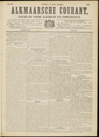 Alkmaarsche Courant 1908-07-14