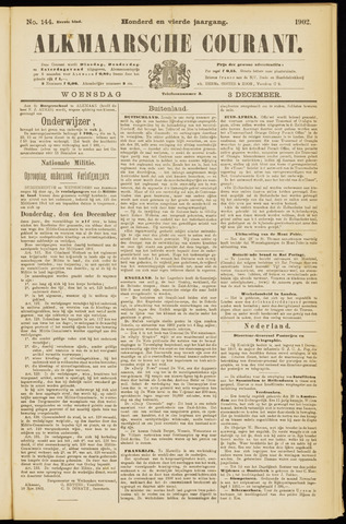 Alkmaarsche Courant 1902-12-03