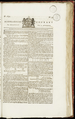 Alkmaarsche Courant 1832-08-27