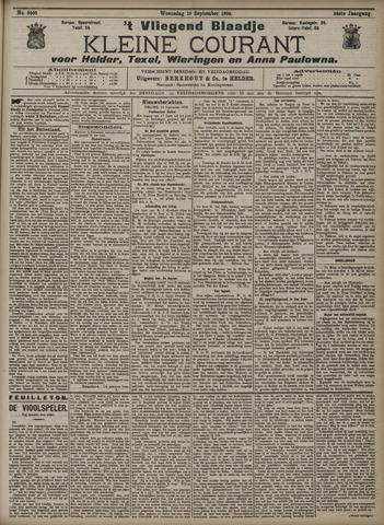 Vliegend blaadje : nieuws- en advertentiebode voor Den Helder 1906-09-19