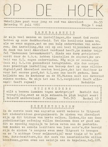 Op De Hoek, weekblad voor Akersloot 1955-07-16