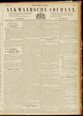 Alkmaarsche Courant 1879-11-09