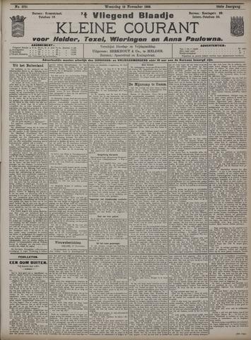 Vliegend blaadje : nieuws- en advertentiebode voor Den Helder 1908-11-18