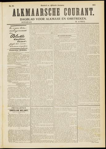 Alkmaarsche Courant 1913-04-15