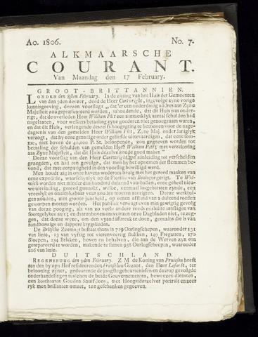 Alkmaarsche Courant 1806-02-17
