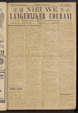 Nieuwe Langedijker Courant 1929-04-23
