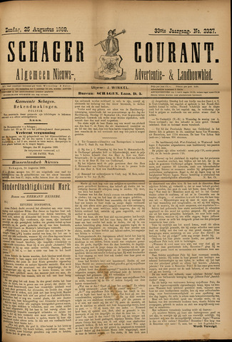 Schager Courant 1889-08-25