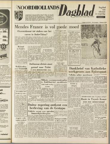 Noordhollands Dagblad : dagblad voor Alkmaar en omgeving 1954-07-09