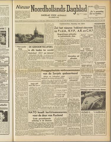 Nieuw Noordhollandsch Dagblad : voor Alkmaar en omgeving 1952-07-04