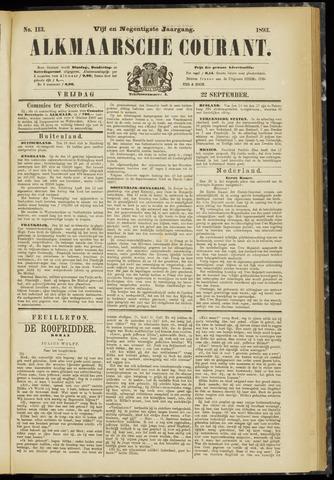 Alkmaarsche Courant 1893-09-22