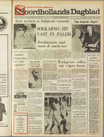Noordhollands Dagblad : dagblad voor Alkmaar en omgeving 1965-10-01