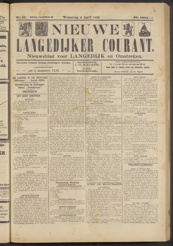 Nieuwe Langedijker Courant 1923-04-04