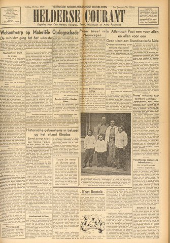 Heldersche Courant 1949-02-25