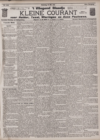 Vliegend blaadje : nieuws- en advertentiebode voor Den Helder 1912-05-25