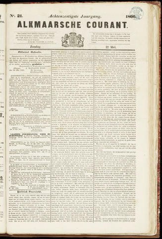 Alkmaarsche Courant 1866-05-27