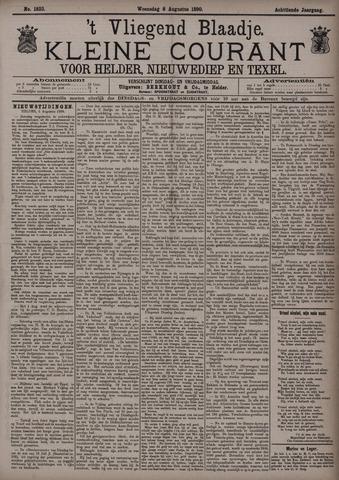 Vliegend blaadje : nieuws- en advertentiebode voor Den Helder 1890-08-06