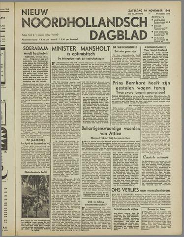 Nieuw Noordhollandsch Dagblad : voor Alkmaar en omgeving 1945-11-10