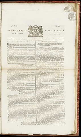 Alkmaarsche Courant 1826-04-17