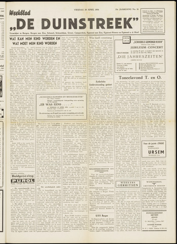 De Duinstreek 1956-04-20