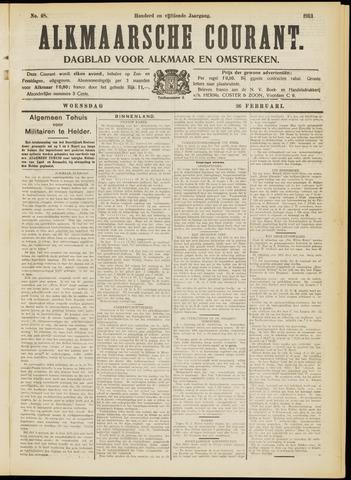 Alkmaarsche Courant 1913-02-26