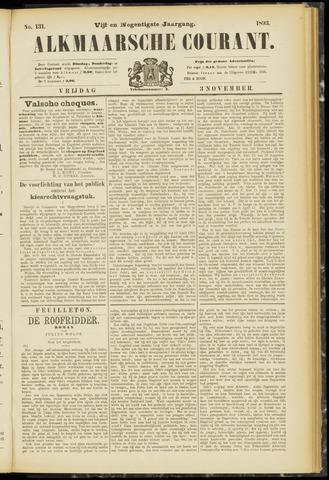 Alkmaarsche Courant 1893-11-03