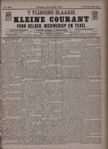 Vliegend blaadje : nieuws- en advertentiebode voor Den Helder 1884-10-29