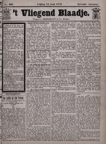 Vliegend blaadje : nieuws- en advertentiebode voor Den Helder 1879-06-13
