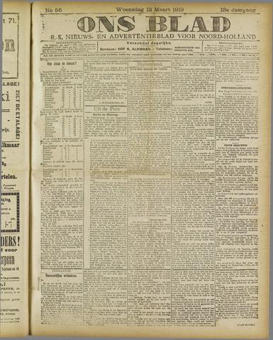 Ons Blad : katholiek nieuwsblad voor N-H 1919-03-12