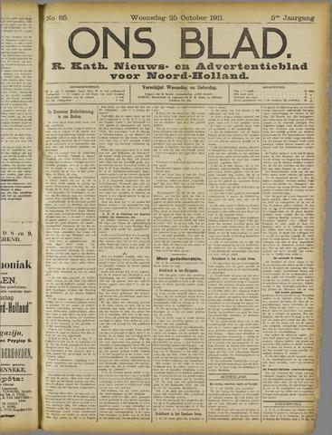 Ons Blad : katholiek nieuwsblad voor N-H 1911-10-25