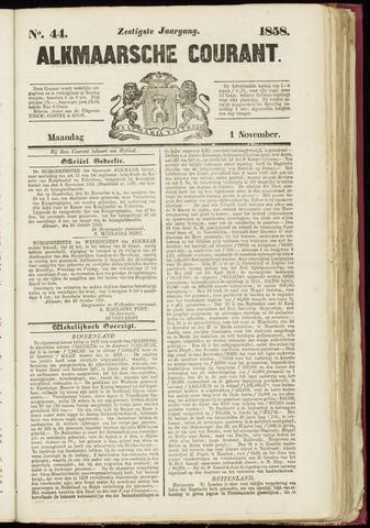 Alkmaarsche Courant 1858-11-01