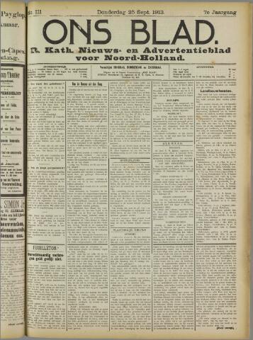 Ons Blad : katholiek nieuwsblad voor N-H 1913-09-25